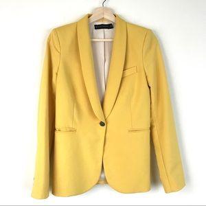 Zara yellow blazer jacket